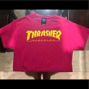 465a79487ac Thrasher Tops - Thrasher Magazine Logo Pink T-Shirt
